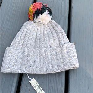 NWT Madewell Pom Pom multi colored hat